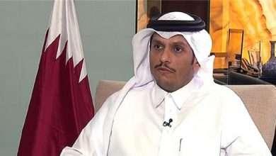 صورة وزير الخارجية القطري يتحدث عن حل سياسي وليس عسكري