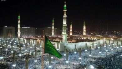 صورة تفوج حجاج بيت الله إلى المدينة ومكة المكرمة من اليمن وبنغلادش وبلاد عربية وإسلامية