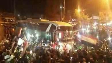 بالصور أثناء وصول منتخب الناشئين العاصمة صنعاء وسط استقبال شعبي كبير في ميدان التحرير 8