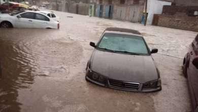 أحياء تغرق وسط العاصمة صنعاء بسبب الأمطار 10