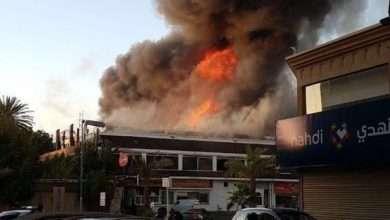 صورة صور حريق جده اليوم الأحد 13 شعبان 1439هـ  في مركز حماده