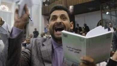 صورة (اشنقوني في ميداني التحرير).. وزير في حكومة الحوثيين مخاطباً مجلس النواب