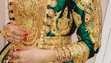 صورة صور سارة الودعاني أثناء ليلة الحناء وملابس ساره الودعاني بالذهب