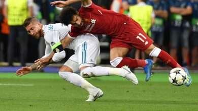 صورة صور اصابة محمد صلاح في مباراة ريال مدريد وليفربول