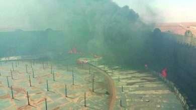 صورة خسائر كبيرة في براميل النفط بـ سبب حرائق ميناء رأس لانوف من اخبار ليبيا اليوم