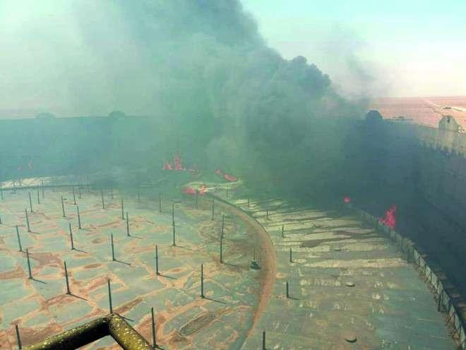 خسائر كبيرة في براميل النفط بـ سبب حرائق ميناء رأس لانوف من اخبار ليبيا اليوم