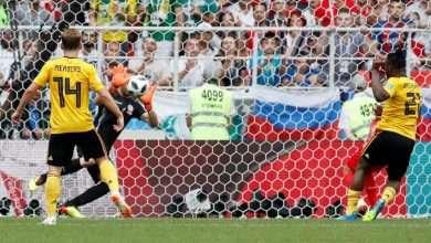 أهداف مباراة بلجيكا ضد تونس من كأس العالم 2018 4