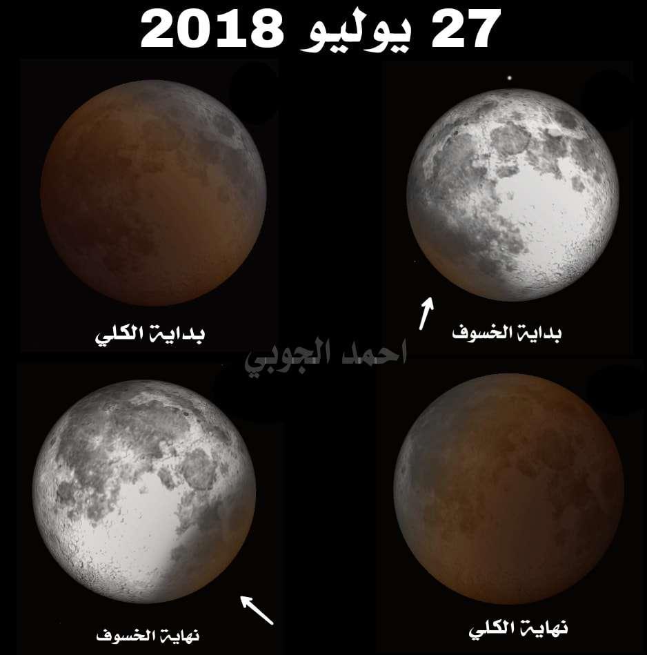 موعد خسوف القمر 2018 في اليمن السعودية والدول العربية