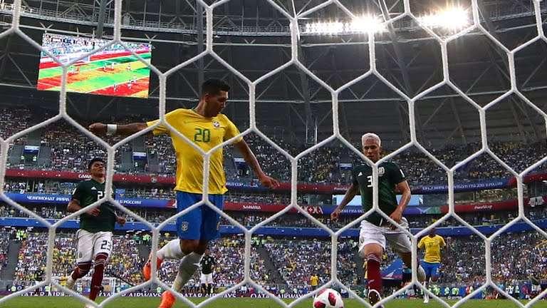 أهداف مباراة البرازيل والمكسيك