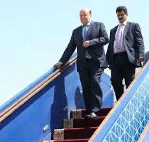 الرئيس اليمني هادي يصل الرياض قادماً من الولايات المتحدة الأمريكية