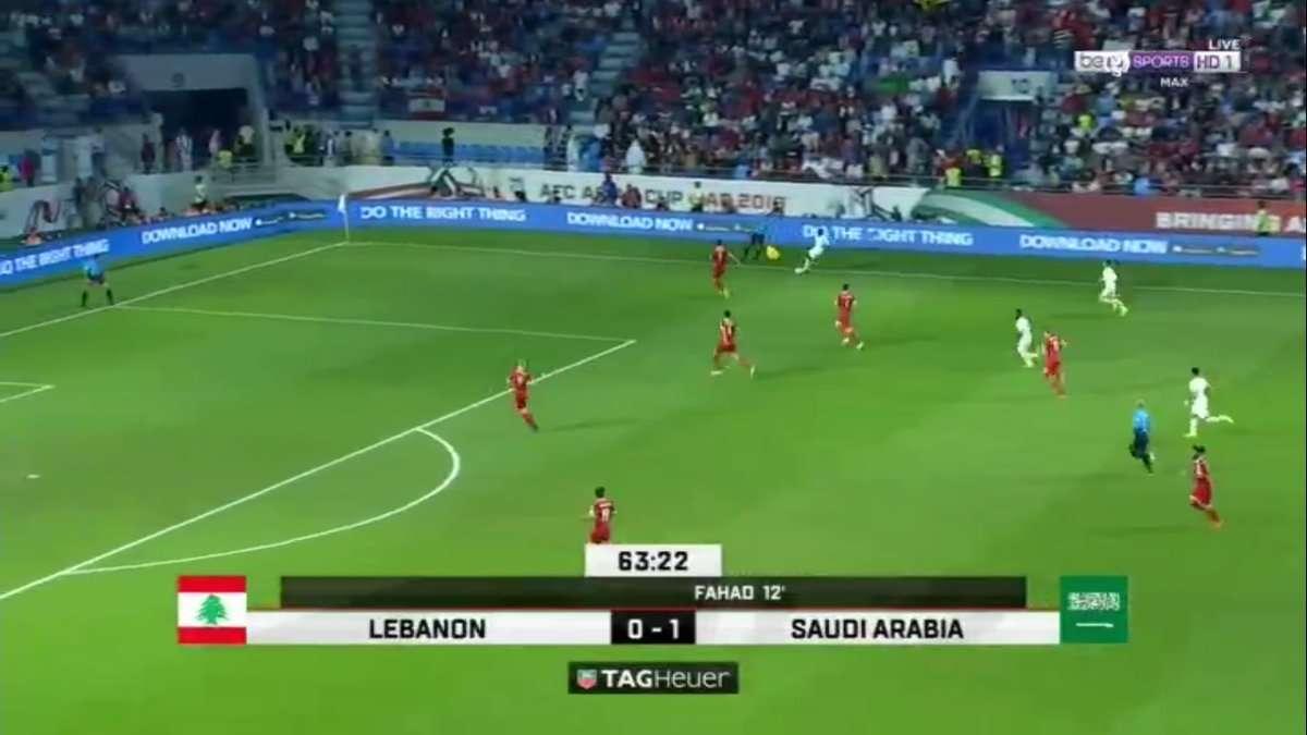 صورة نتيجة اهداف مباراة السعودية ولبنان في كأس اسيا 2019 اليوم
