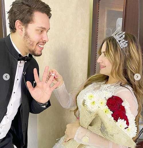 زواج احمد حسن على زينت بـ نورا يثير ضجة في مواقع التواصل 3