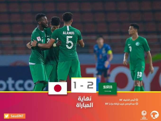 Photo of شاهد أهداف مباراة السعودية واليابان في أول لقاء تحت سن 23