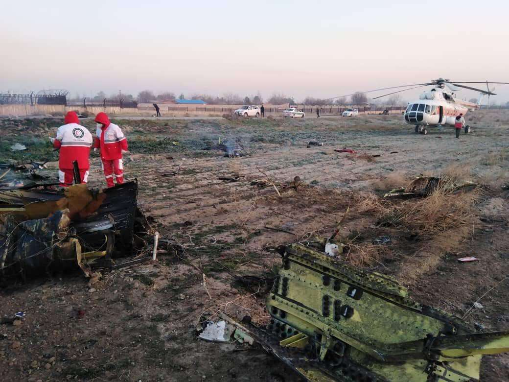 صورة سبب تحطم طائرة اوكرانية في إيران