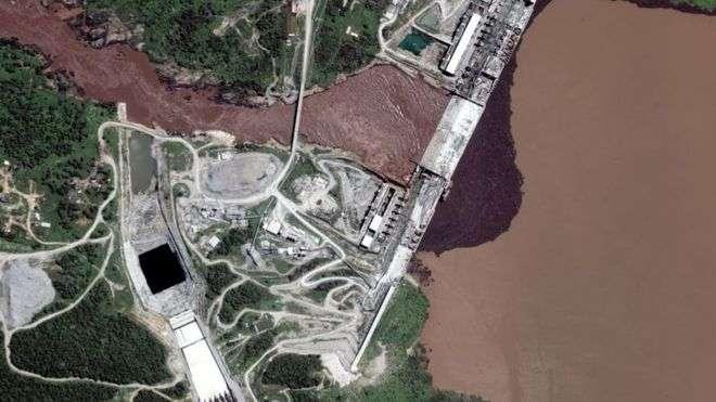 صورة صور مريبة تظهر مياه خزان سد النهضة ترتفع.. ماذا يجري؟